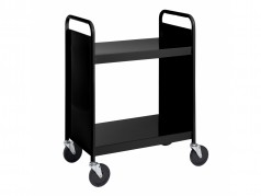 Biofit Booktruck with 2 flat shelves