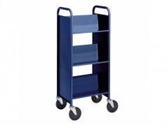 Biofit Mini Booktruck with 3 sloping shelves