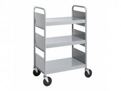 Biofit Booktruck with 3 flat shelves