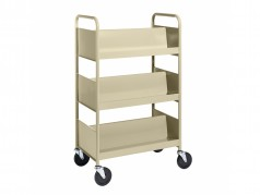 Biofit Booktruck with 6 sloping shelves