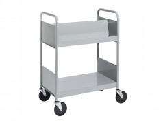 Biofit Booktruck with 2 sloping and 1 flat shelves