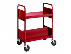 Biofit Booktruck with 1 flat and 2 sloping shelves