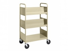 Biofit Booktruck with 4 sloping and 1 flat shelves