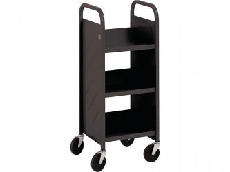 """Mini Chariot """"Library Quiet"""" à 3 tablettes inclinées de Demco"""