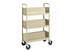 Biofit Booktruck with 3 sloping shelves