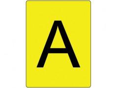 """Étiquettes """"A"""" verticales en roulette"""