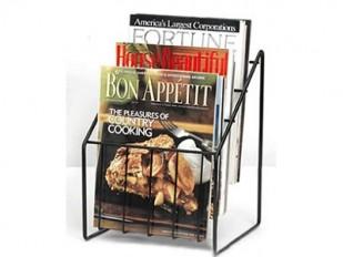 Présentoir de comptoir en fil métallique pour magazines