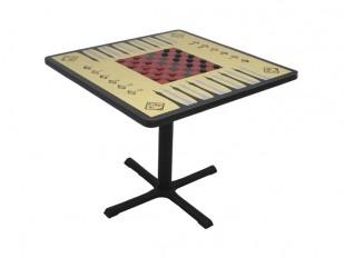 Table de jeu Allied - Dames, Échecs et Backgammon
