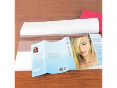 Couvre-jaquette avec support de papier à fente centrale