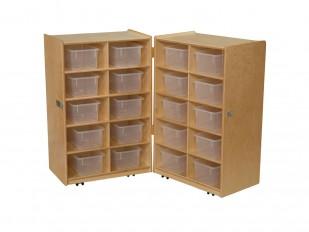 Meuble de rangement pliant de Wood Designs - 20 casiers
