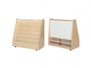 Présentoir mobile pour livres avec tableau blanc de Wood Designs