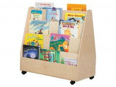 Wood Designs Mobile Double Sided Book Display
