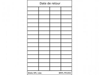 Date de retour (Date Due) Slips