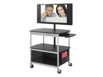 Safco Scoot Open Flat Panel Multimedia Cart