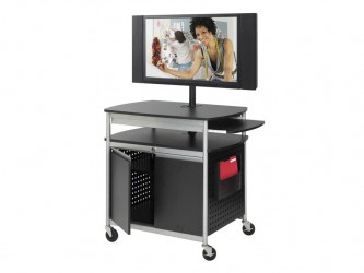 Safco Scoot Flat Panel Multimedia Cart