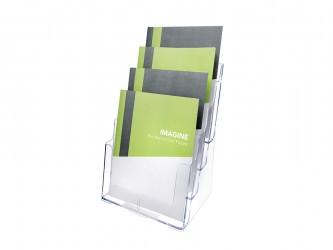 Présentoir de comptoir en acrylique pour magazines