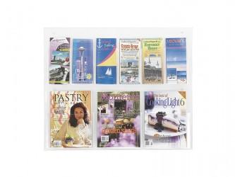 Présentoir mural Clear2c pour magazines et dépliant