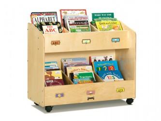 Chariot de présentation pour livres de Jonti-Craft