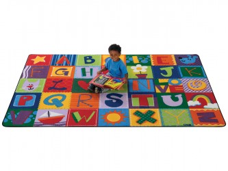 Carpets for Kids Alphabet Blocks Reading Carpet
