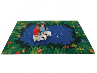 Carpets for Kids Peaceful Tropical Night Reading Carpet