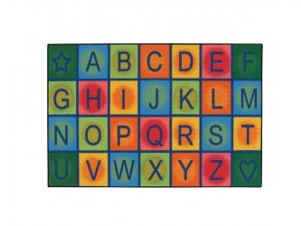 Carpets for Kids KIDS Value Rugs Simple Alphabet Block Carpet
