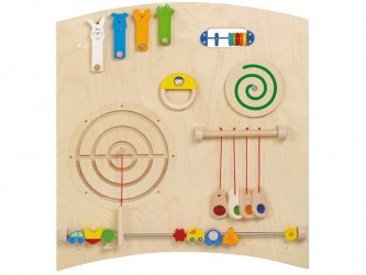 Gressco Haba Learning and Sensory Activity Wall - Curve B