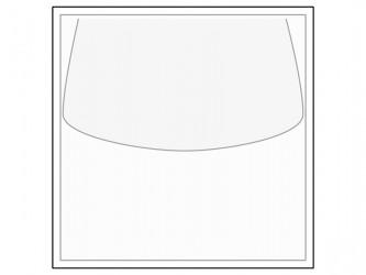 Pochette autocollante en polypropylène pour disques